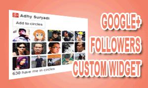 Google+ Followers Custom Widget Untuk Blog