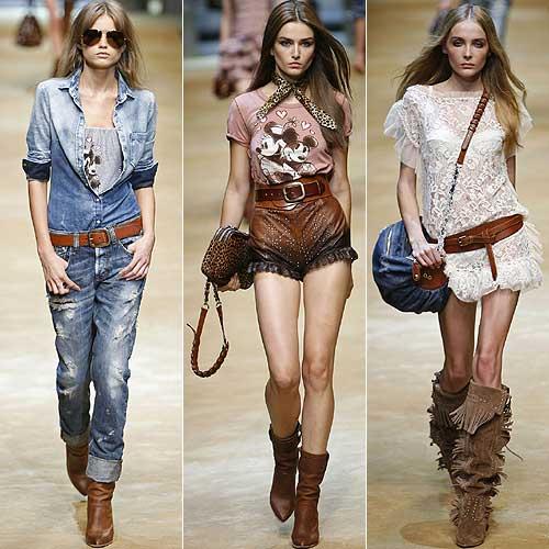 La moda, estilo western