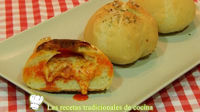 Receta fácil de pan casero relleno de queso y sobrasada