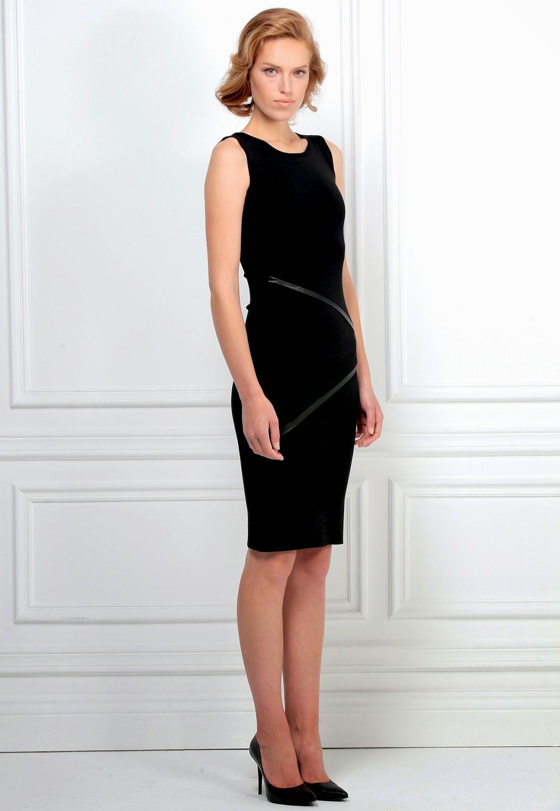 deri garnili elbise, dar elbise, siyah elbise, kısa elbise, kolsuz elbise, 2015 elbise modelleri, adil ışık elbise