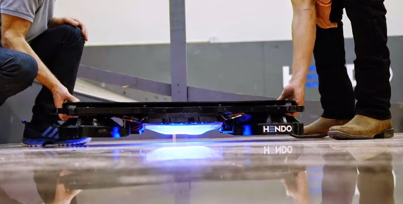 Look at The World's Very First Real Hoverboard Technology
