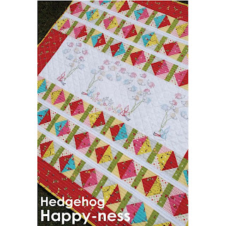 Cinderberry Stitches Hedgehog Happy-ness Quilt Pattern by Natalie Lymer
