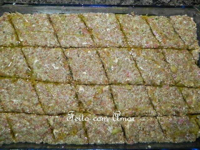 Quibe delicioso, úmido, macio e fácil de fazer, feito pela Lourdes Maria.