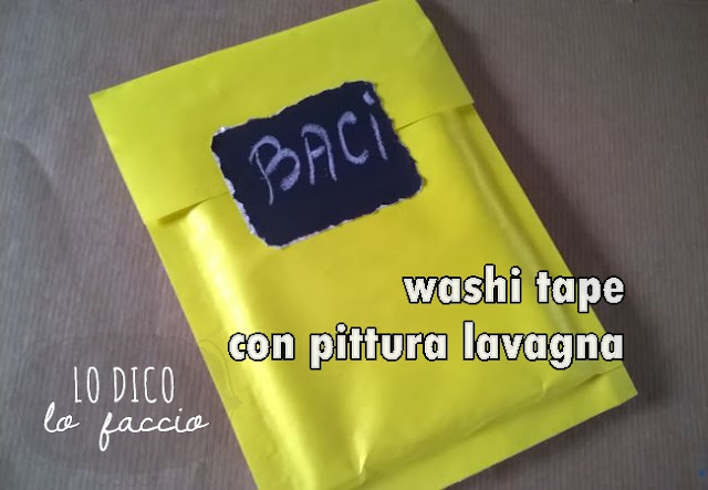 washi tape con pittura lavagna