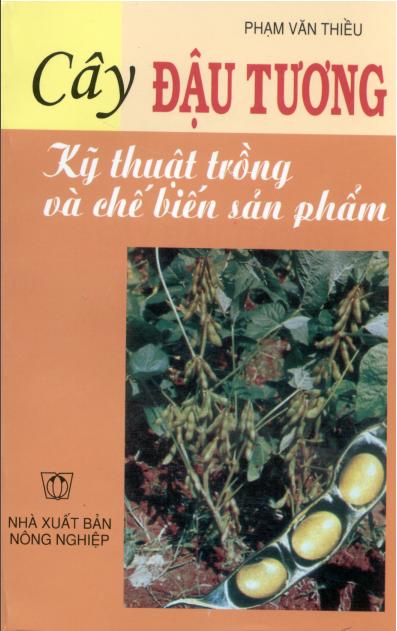 """Bìa tài liệu """"Cây đậu tương - kỹ thuật trồng và chế biến sản phẩm"""""""