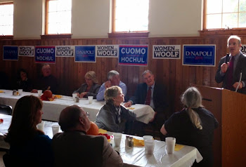 Speaking to Clinton County Democrats at Breakfast