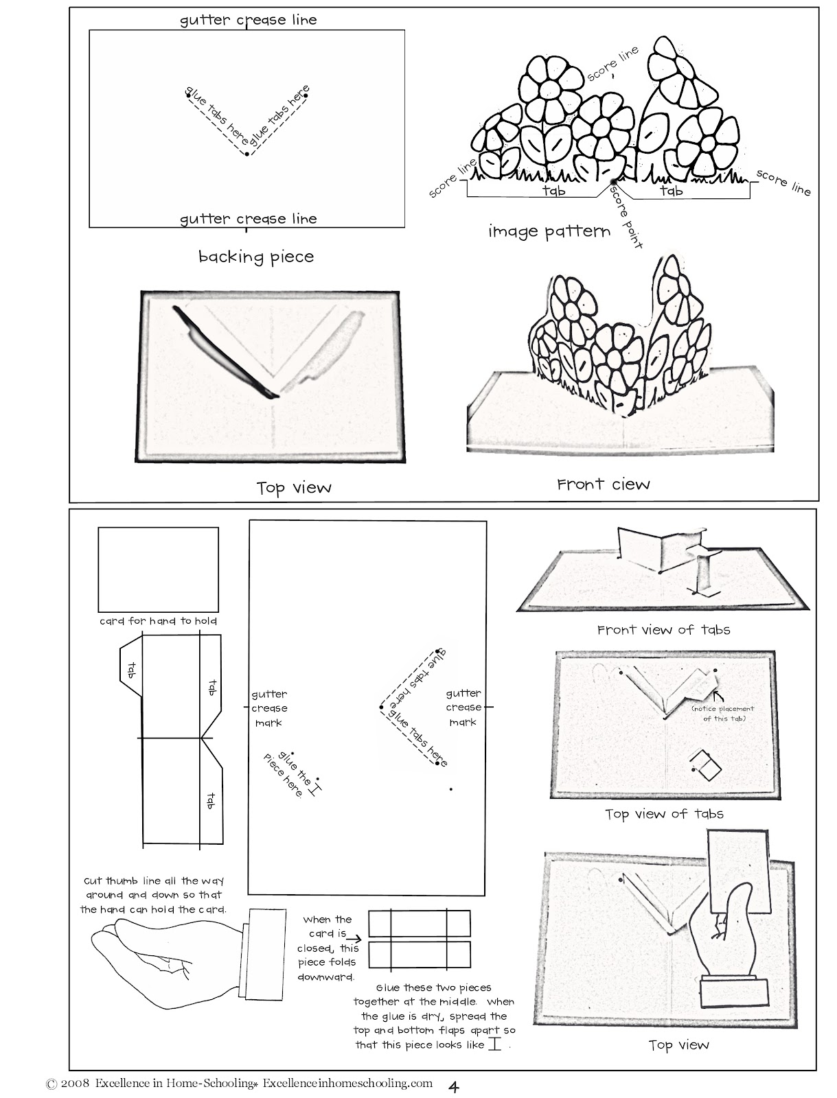 Lauras Frayed Knot Pop Up Cards Instructions And Patterns
