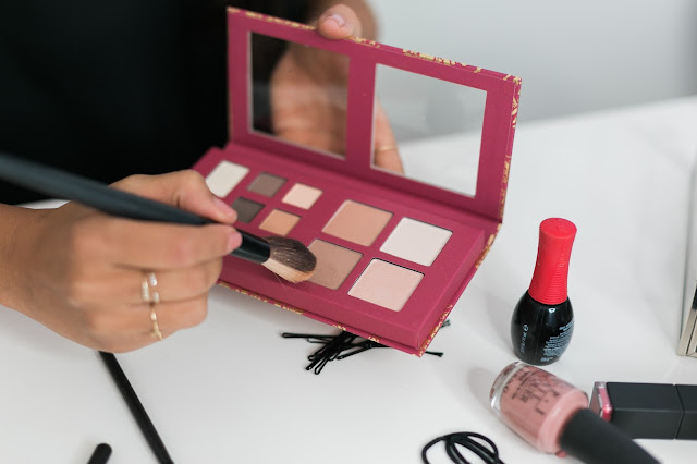 holiday makeup, contour on tan skin, how to holiday beauty target