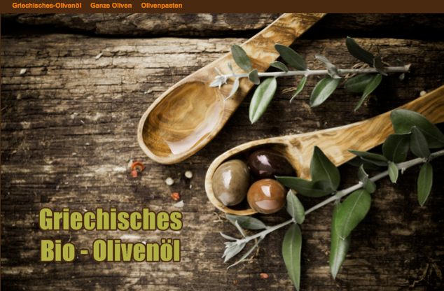 Feines Bio Olivenöl und andere Produkte aus Oliven