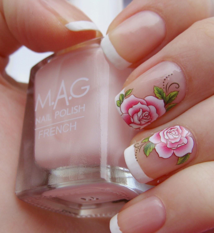 Маникюр с цветами - 100 фото 84