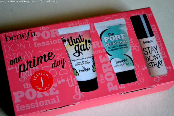 Benefit Cosmetics One Prime Day Sephora Exclusive Mini Travel Size Kit Eyes Faces Primers Makeup Blog Porefessional Pro Balm That Gal Stay Dont Stray Reviews Ingredients