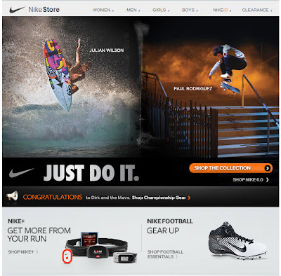 Click to view this June 16, 2011 Nike email full-sized