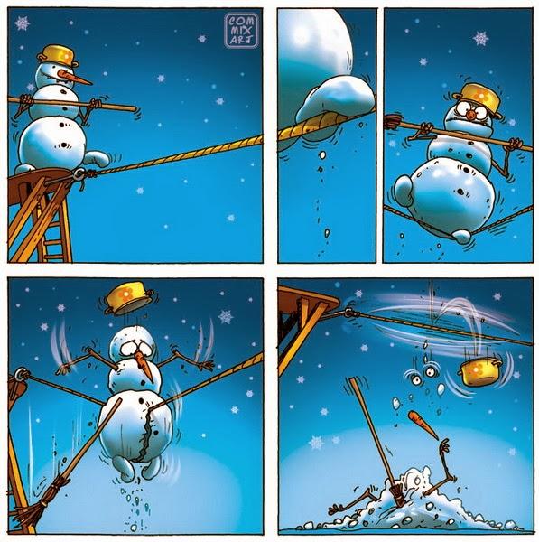 Снеговик канатоходец