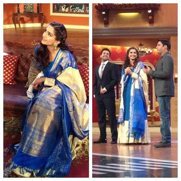 Sonam kapoor on Comedy Nights with Kapil promoting Bewakoofiyaan