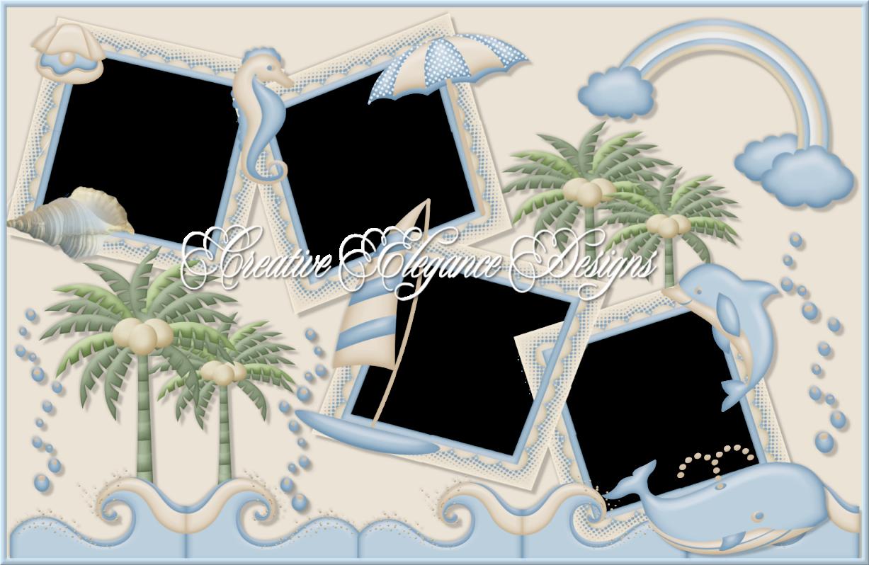beach cluster frames