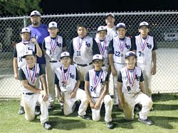 2nd Place - 12u Super Series State Championship Consolation, Jun 2011