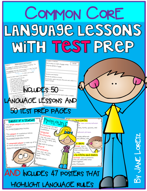http://www.teacherspayteachers.com/Product/Common-Core-Language-Lessons-with-Test-Prep-441917