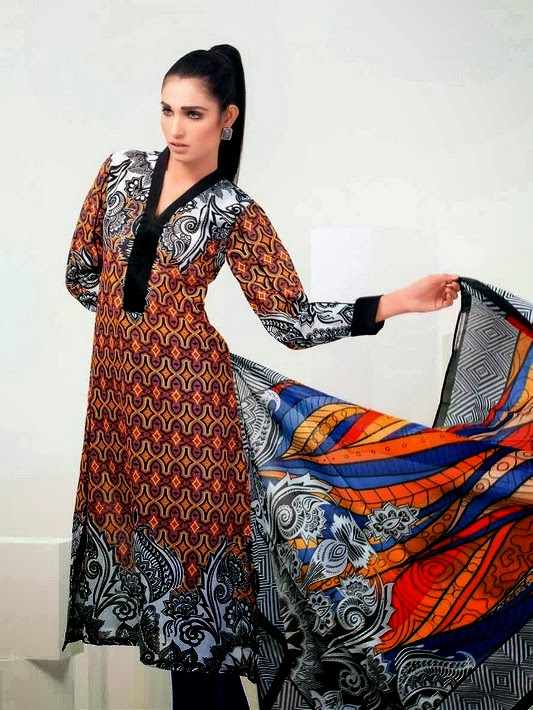 Gul Ahmed Psychedelic Lawn Collection