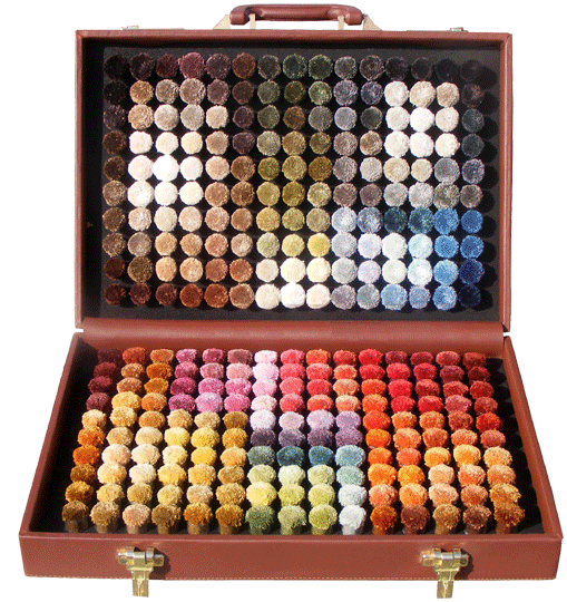 viscose pom box with 300 shades