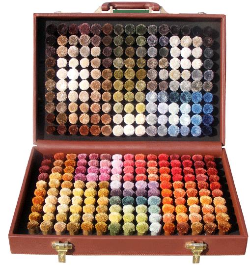 viscose pom box with 300 shades
