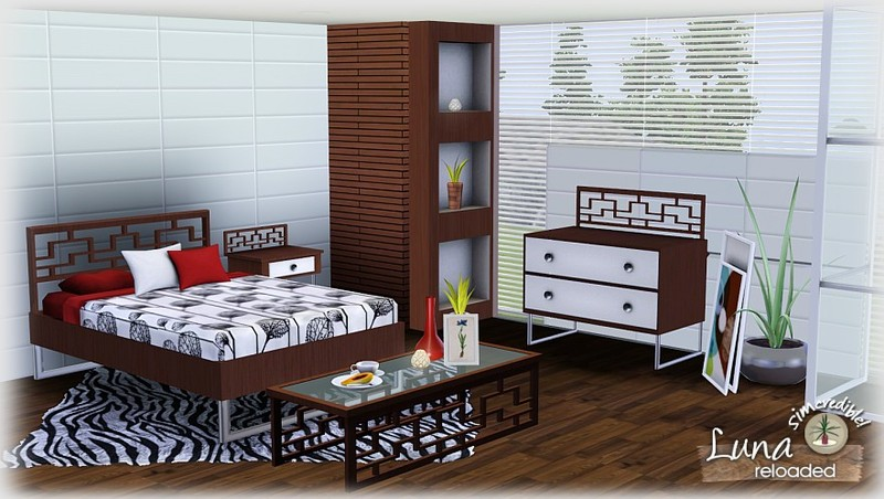 My sims 3 blog luna bedroom set by simcredible designs for Sims 3 bedroom designs