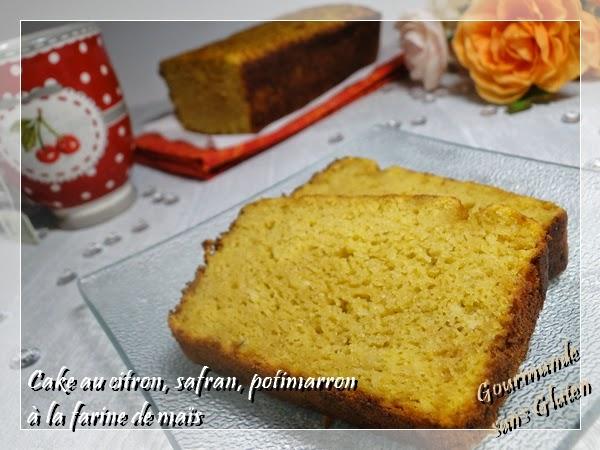 cake citron safran potimarron farine de maïs