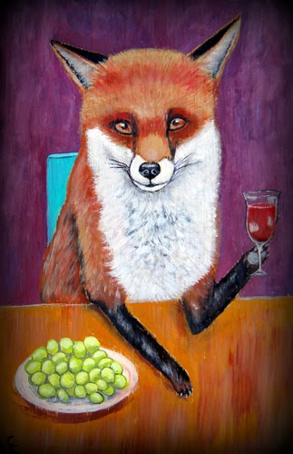 Artsy fartsy by artist carol iyer woodland animals for Painting while drinking wine