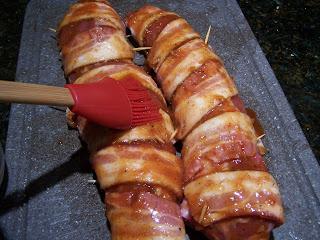 Go Ahead Take A Bite Bacon Wrapped Pork With Peach