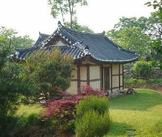 Hanok Houses from Bukchon Hanok Village in Seoul, Korea.