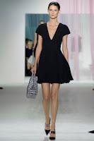 Малка черна рокличка с переста поличка Christian Dior пролет-лято 2013