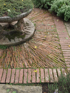 Garden design London and Sussex, unusual paving idea