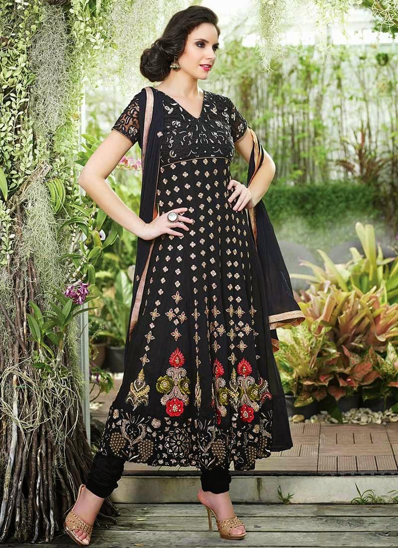 http://www.cbazaar.com/salwar-kameez/anarkali/black-georgette-anarkali-suit-p-slsjil1102b.html