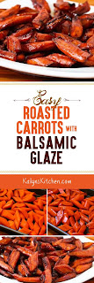 Easy Roasted Carrots with Agave-Balsamic Glaze found on KalynsKitchen.com