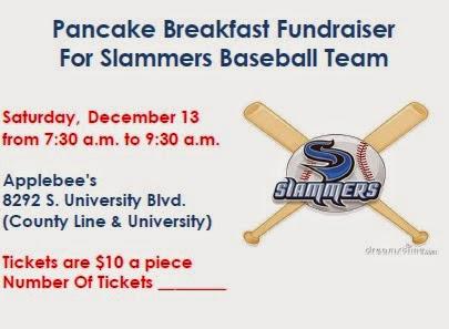 ... Baseball Journey: Slammers Fundraiser - Pancake Breakfast Dec 13, 2014