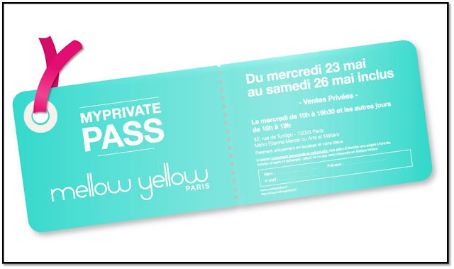 Ventes privées invitation My Private Pass Mellow Yellow