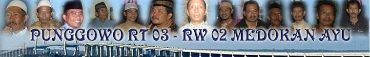 Punggowo RT03 RW02 Medokan Ayu