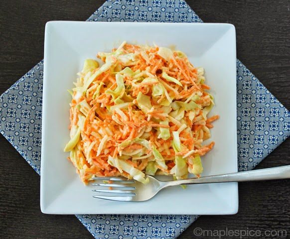 Kohl-slaw: vegan coleslaw made with kohlrabi