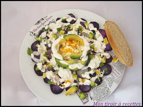 salade pommes de terre avocat