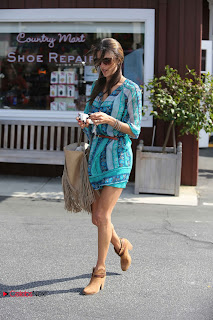 Alessandra Ambrosio Leggy Pictures at Brentwood Country Mart 0003