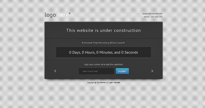 "Free ""Under Construction"" WordPress Theme from DeliciousThemes"