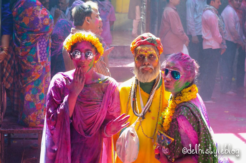 Holi at Banke Bihari Temple 6