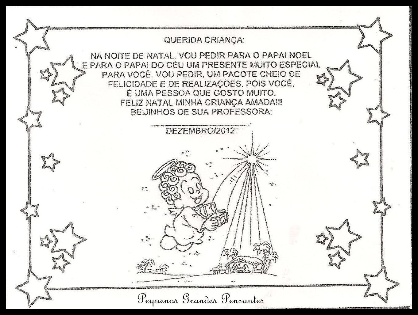 Pequenos Grandes Pensantes Cartões De Natal Para Educação Infantil