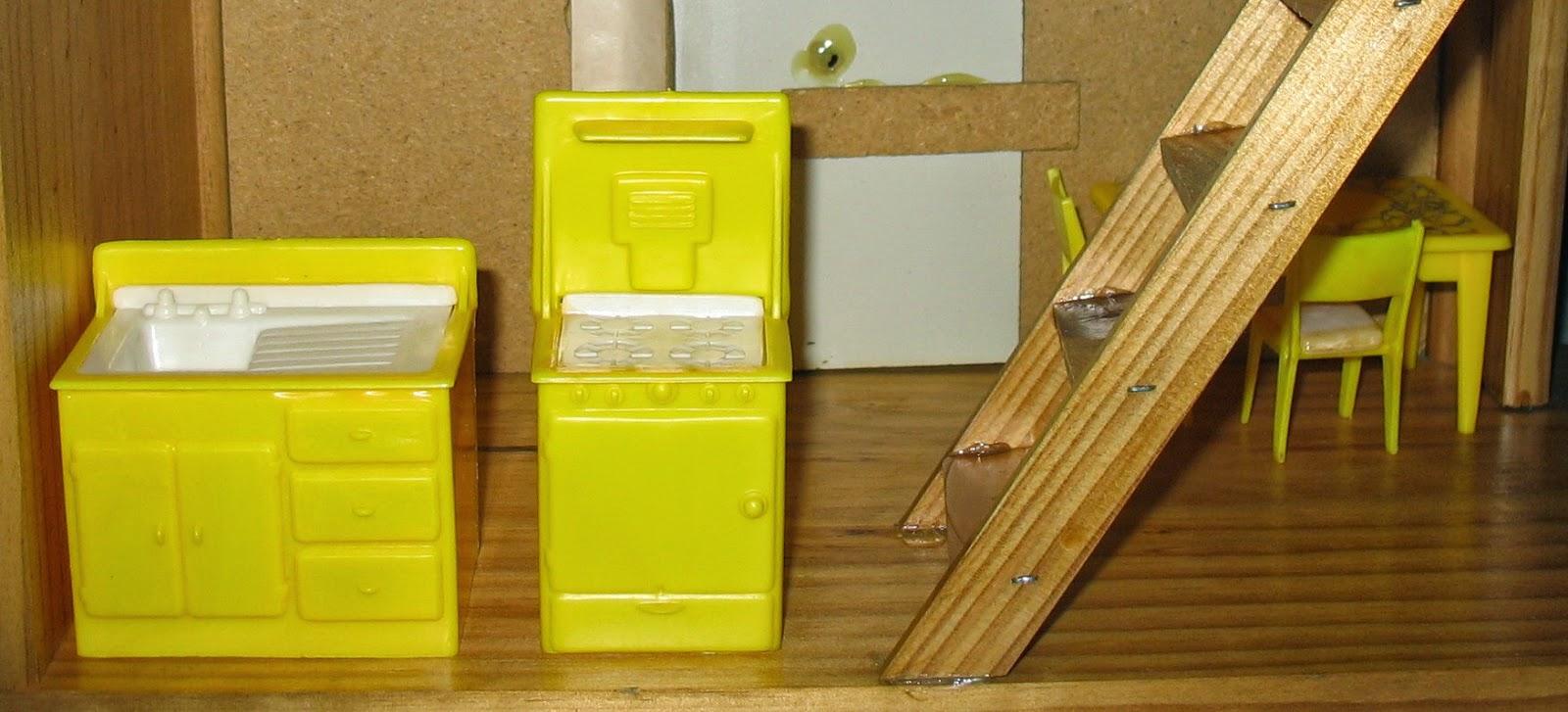 yellow door shutters house yellow plastic sink