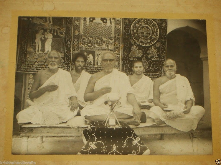 Vintage Photograph of Indian Jain Sadhu