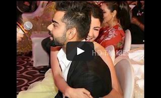 Virat Kohli and Anushka Sharma got clicked during the Vogue Beauty Awards