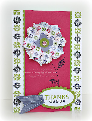 Stampin' Up! Raining Flowers Stamp Set Card Idea