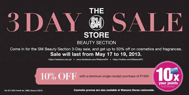 Watson's Nationwide 3-Day Sale