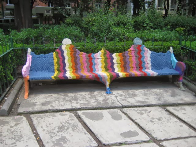 yarn bombing mexico, arte urbano mexico