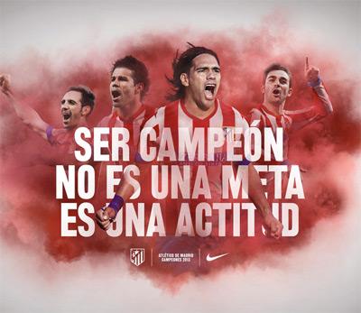 ser campeón no es una meta es una actitud Atlético de Madrid
