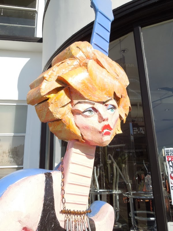 Debbie Harry Blondie GuitarTown tribute sculpture